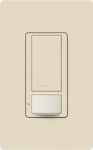 Lutron MS-OPS6M-DV-LA-6 Maestro 6 Amp Dual Voltage Occupancy Sensing Switch 6-Pack, Light Almond by Lutron Occupancy Sensing Switch