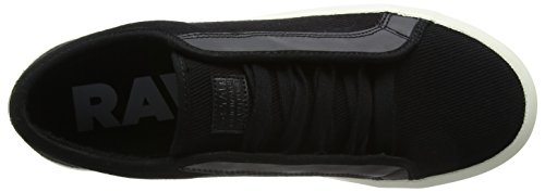 G-STAR RAW Herren Strett Low Sneaker Weiß (Black 990)