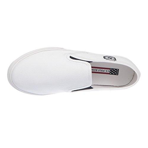 U.S. POLO Herrenschuhe ohne Schnürsenkel, Sneaker Style - mod. GALAN4183S7-CY1 Weiß