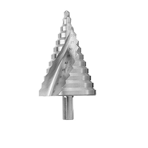 CEFEPH AACH660 Profi Stufenbohrer 6-60mm HSS Schälbohrersatz für Edelstahl Metall Holz Kunststoff usw