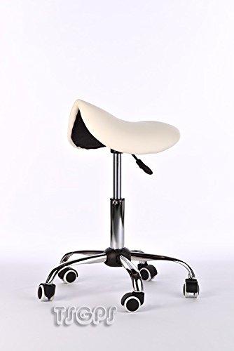 Kosmetik Arbeitshocker Massage Hocker Sattelform, höhenverstellbar, beige
