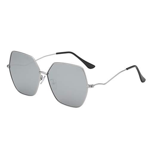 Yolmook Fashion Herren Damen Sonnenbrille, unregelmäßige Form, Vintage-Retro-Stil Gr. Einheitsgröße, g