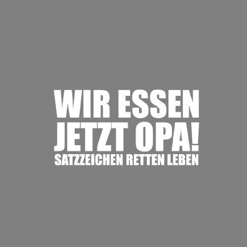 Satzzeichen retten Leben - Herren T-Shirt Braun