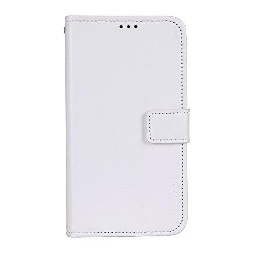 SHIEID® Wiko View 2 Plus Hülle Brieftasche Handyhülle Tasche Leder Flip Case Brieftasche Etui Schutzhülle für Wiko View 2 Plus mit Stand Funktion EIN Stent-Funktion (Weiß)