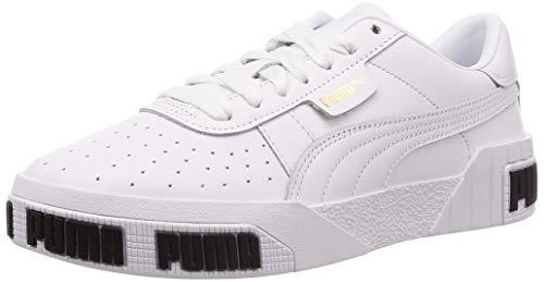 PUMJV|#Puma Damen Cali Bold WN's Sneaker, (Puma White-Metallic Gold 01), 6.5 EU (Zapatos Puma)