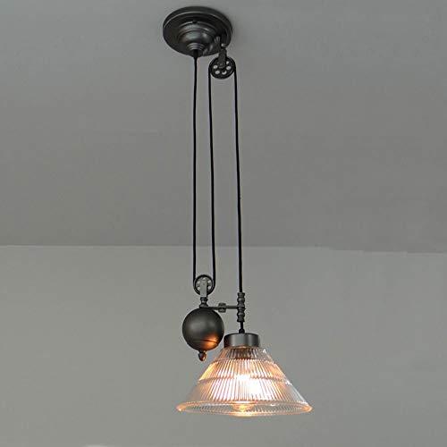 ZHANG NAN Industrie-Kronleuchter Einstellbare Schwanenhalslampe Riemenscheibe Steam Punk-Stil Pendelleuchte, die mit 1 Licht einsteckbar ist