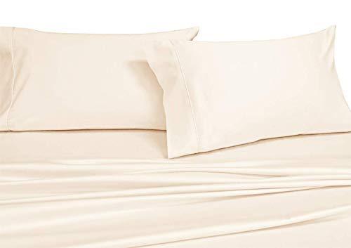 Luxuriöse Massive Fadenzahl 600Twin Extra Lang Größe Bettlaken Set 100% ägyptische Baumwolle 3-Teiliges Bed Sheet Set (Deep Pocket) 600tc Twin XL Twin XL Elfenbeinfarben (Sheet Set Lange Twin)