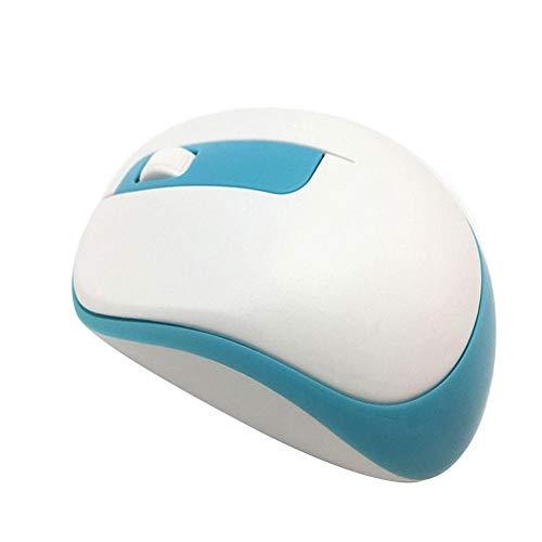 Preisvergleich Produktbild obiqngwi für den elektronischen Wettkampfsport,  Quelima Ergonomische 2, 4 GHz Wireless 1000DPI Optische Maus für Computer Laptop - Blau