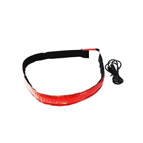 Glovion Wiederaufladbare LED Helm Hard Hat Lichtleiste Zur sicherheit - Red