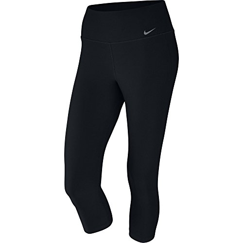 Nike Damen Power 3/4 Trainingshose, Black/Cool Grey, XL (Nike Trainingshose Damen Xl)