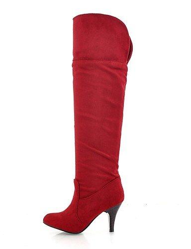 ShangYi Mode Frauen Schuhe Damen Stiefel Frühjahr / Herbst / Winter Fashion Stiefel Kunstleder Outdoor / Party & Abend / braun / rot Rot