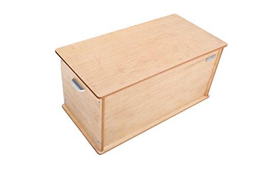 Little Helper NB/tty01-6g baúl grande de madera Room Tidy, weiβ con natural