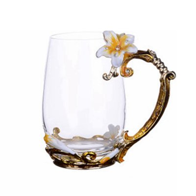 xing lin Becher Mug Pandapark Lily Emaille Glas Tasse Milch Tumbler Office Coffee Tumbler...