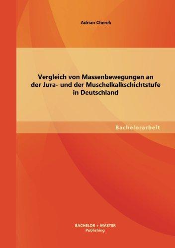 Vergleich von Massenbewegungen an der Jura- und der Muschelkalkschichtstufe in Deutschland