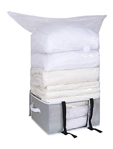 Soft-bag-staubsauger (Leaf House Vakuumbeutel Vakuum Soft Box mit Schnallen für Bettdecken Bettwäsche Kissen Kleidung-XXL)