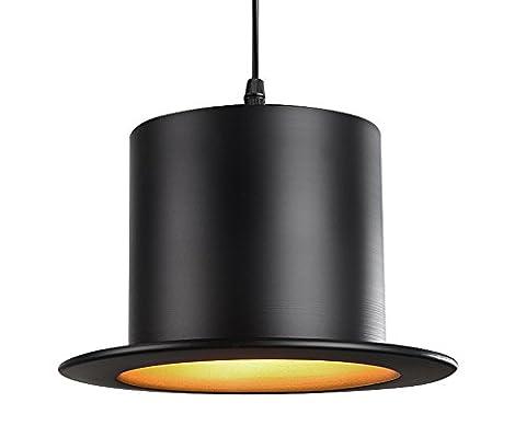 Rétro Industriel Style Design Aluminium Lustre Vintage Créatif Forme de chapeau Couloir Lampe Suspensions Luminaires Décoration de Maison Bar Cuisine salon Restaurants Café Club Luminaire suspendu E27 Ampoule