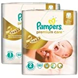 Pampers – Couches Premium entretien Taille 1  + taille 2–168 Stk