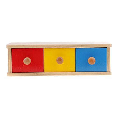 Gazechimp Montessori Cajón de Almacenamiento de Madera Juguetes Sensoriales para Niños Regalo para Niños