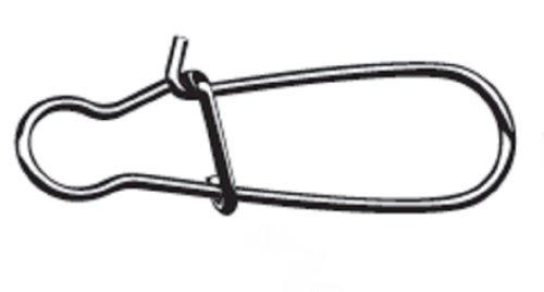 Mustad Dual Lock Snap (Pack of 4), Black Nickel, Size 8 Test