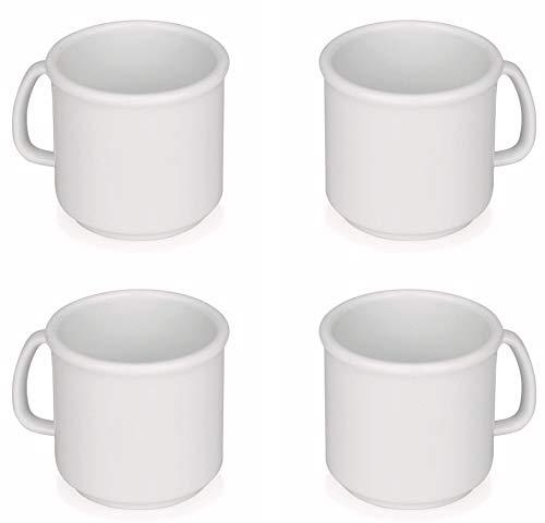 Viva Haushaltswaren 4 Kunststoff-Becher/Kaffeebecher/Trinkbecher