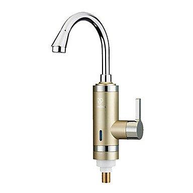 Küchenarmaturen digitale elektrische Warmwasserbereiter Kaltwasserhahn heißen Mehrzweck-Gold Küche