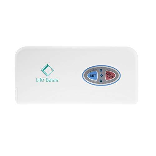 LifeBasis Sauerstoffgerät Tragbarer Sauerstoffkonzentrator Generator mit wiederaufladbarer Akku für haushalt Reise Auto 3+/-1,5L/min, 100-240V, 12-15V, 50-60HZ, Lärm unter 50dB MEHRWEG