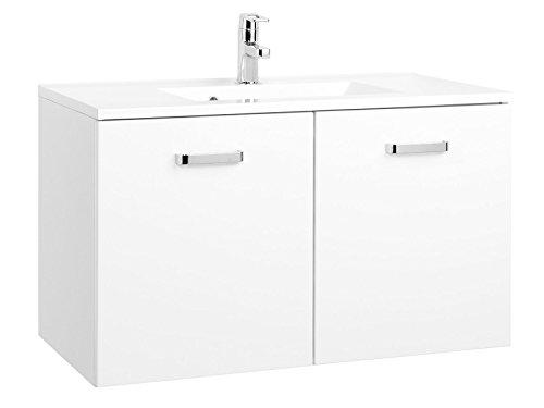 """Waschtisch Badmöbel Badezimmermöbel Waschbecken Waschplatz Bad """"Bologna II"""" (90 cm)"""