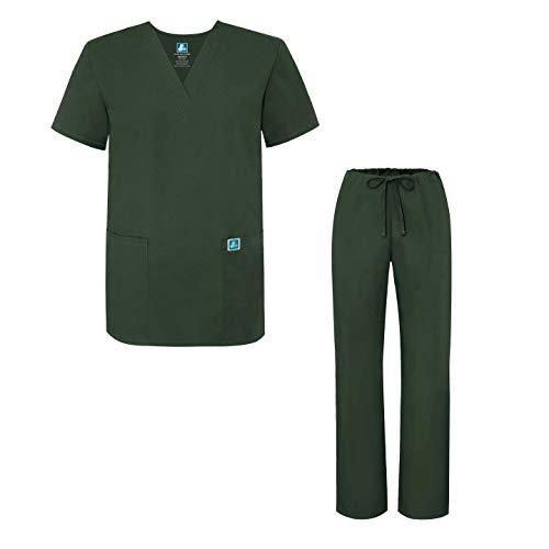 Unisex-Schrubb-Set - Medizinische Uniform mit Oberteil und Hose 701 Color OLV | Talla: L - Set Krankenschwestern Medizinischen Scrubs Uniform