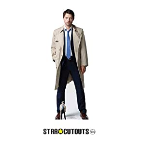 Star Cutouts SC1351 Castiel (Supernatural) Misha Collins - Recorte de cartón (tamaño real, 184 cm de alto, 63 cm de ancho, multicolor