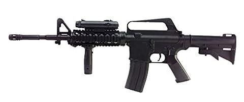 FUSIL D'ASSAUT A BILLES M16A4 M4 RIS SPRING HOP UP 0.5 JOULE WELL AC80011 AIRSOFT REPLIQUE COLT