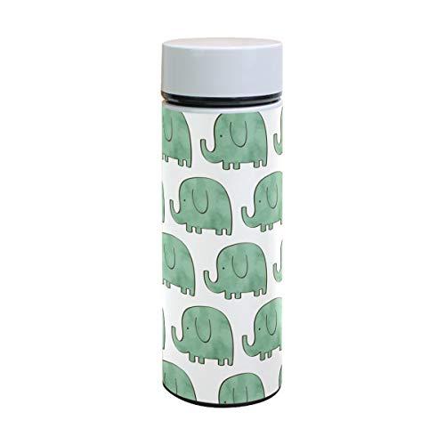 Termo de acero inoxidable con diseño de elefantes para niños, 350 ml
