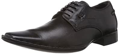 Lee Cooper Men's Black Leather Formals and Lace-Up Flats - 10UK