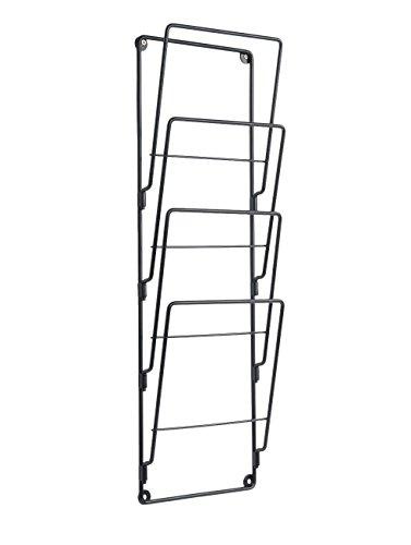 PT Present Time - Magazingestell - Zeitschriftenhalter - Stahldraht - Mattschwarz 60 x 19 cm
