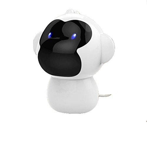 Mini Computer Lautsprecher USB Kabelgebundene Lautsprecher Kleiner Affe Computer Desktop Lautsprecher für PC, Tablet, Telefon, MP3, usw. (Weiß)
