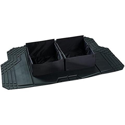 Kraco 805607r Alfombrilla de carga con almacenamiento Dual, color negro