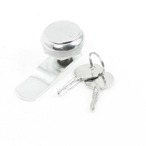 Glasschiebetür 32mm Dia Silber Ton schloss mit 2Schlüssel