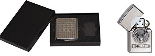 Zippo 15469accendino cacciatore Meister logo plus astuccio per sigarette Gift Set, Collection 2016, articolo numero 1.900.776.3, cromato ausgebürstet
