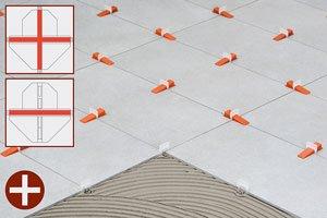 500 RLS Raimondi 3D Zuglaschen - Levelling System | Fliesen-Nivelliersystem | Verlegehilfe (3-12mm Fliesenstärke)