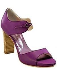 Sandalette de David Cuir Marron en cognac