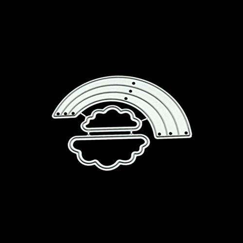 WLG Silikon-Formen für Backen, stirbt Schneiden Stencil Metallform Vorlage für Diy Scrapbook Album Briefmarken-Papierkarte Präge Crafts Dekor - Rainbow, Backform Snake