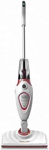 Black+Decker Steam-Mop with 3 Accessories, 1600W, White/Red - BDS1616R-QS, 2 Years Warranty