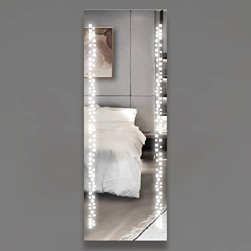 VON ADELBERG Design Spiegel mit LED Beleuchtung für das Badezimmer, Wohnzimmer, Gästzimmer, Schlafzimmer Spiegel mit Lichtschalter oder Bewegungssensor 56 x 160 cm INVIDIA