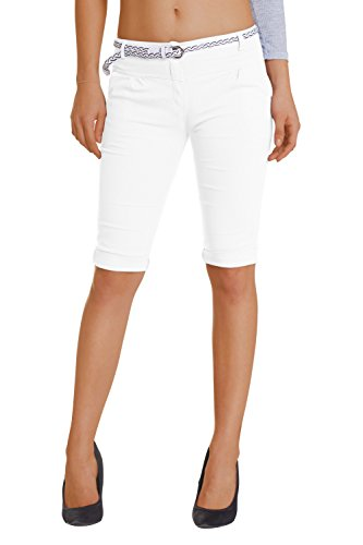 Damen Shorts, ( 454), Grösse:42 XL, - Weiße Capri-jeans