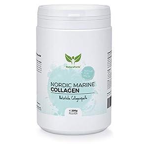 NaturaForte Marine Collagen Protein-Eiweiß-Pulver 300g – Kollagen Hydrolysat Peptides Powder hochdosiert, Aus nachhaltigem Wildfang Fisch, Geschmacksneutral, Typ 1 und Typ 2