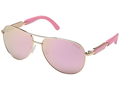 GUESS Factory Women's Mirrored Tinted Aviator Sunglasses