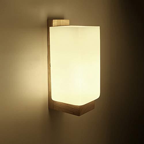 Jiuyida Massivholz Wandleuchte Wohnzimmer Schlafzimmer Nachttischlampe Einfache Japanischen Stil Zimmer Kreative Gang Wandleuchte -