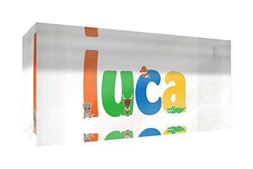 Little Helper de Luca 515blk 15de Diamant poli Baby andenken/jeton, personnalisé avec le nom jeunes, Luca, petit, 5 x 15 x 2 cm