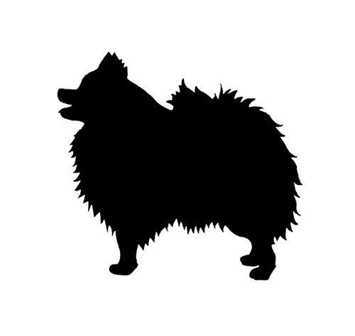 Auto-Aufkleber-Aufkleber Pomeranian Dog Bumper Sticker Species Tiere Haustiere Hunde Motorrad Auto Aufkleber und Abziehbilder 14 * 13CM 2 Stück -