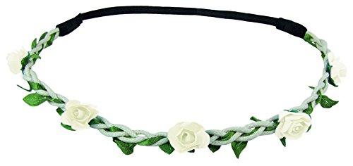 Blumen Haarband Bella mit kleinen Rosen - Weiß