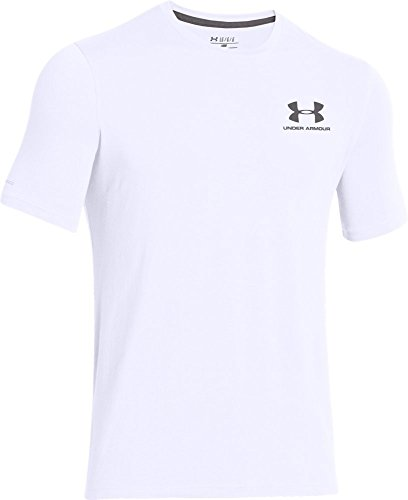 Under Armour Herren Charged Cotton Sportstyle T-Shirt, Herren, Weiß/Graphitgrau, 3X-Large (Under T-shirt Shorts Armour)